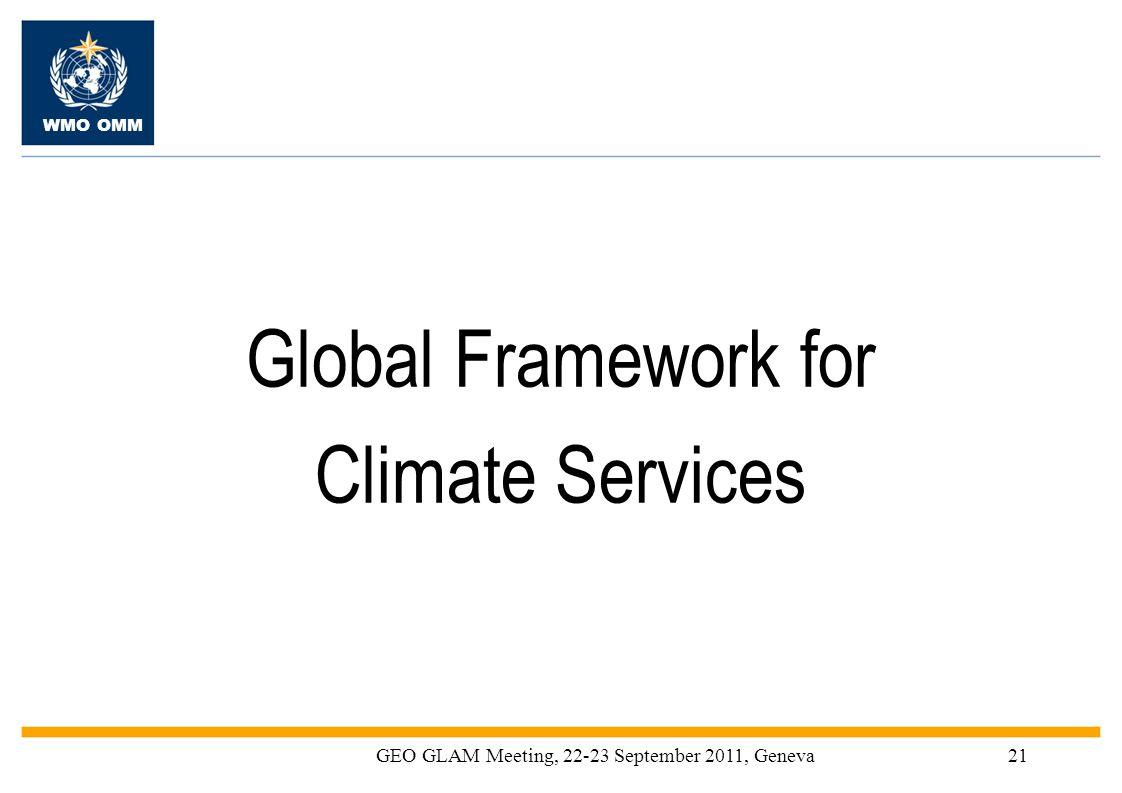 GEO GLAM Meeting, 22-23 September 2011, Geneva