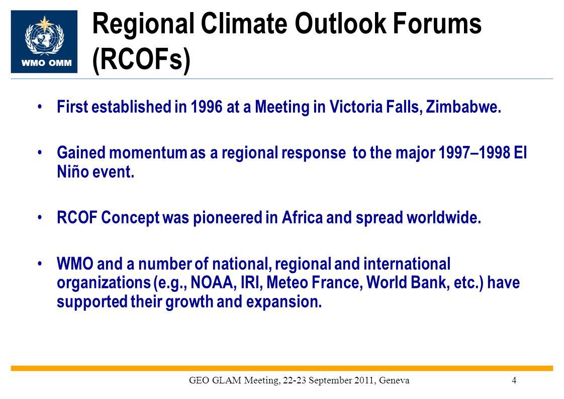 Regional Climate Outlook Forums (RCOFs)