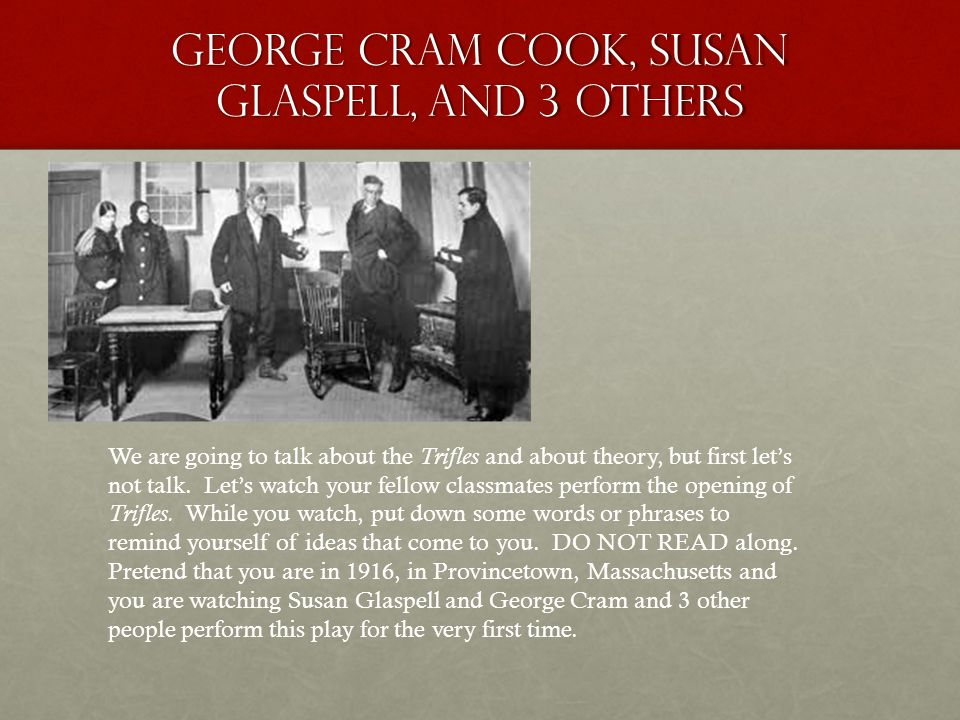 an analysis of the characters in the short story a jury of her peers by susan glaspell