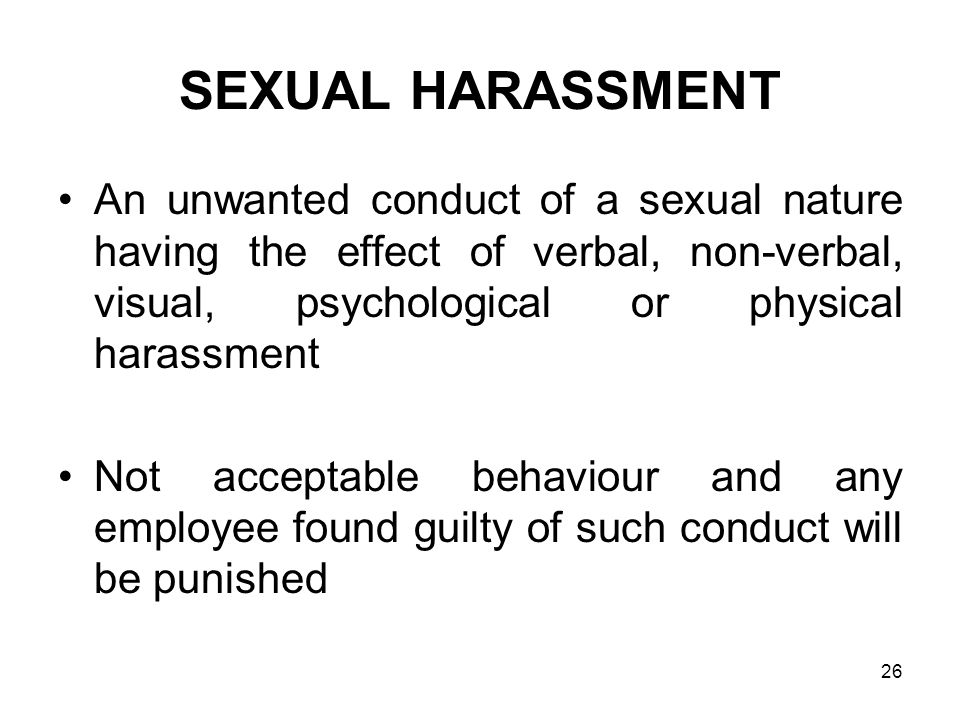 sexual harassment and psychology addon