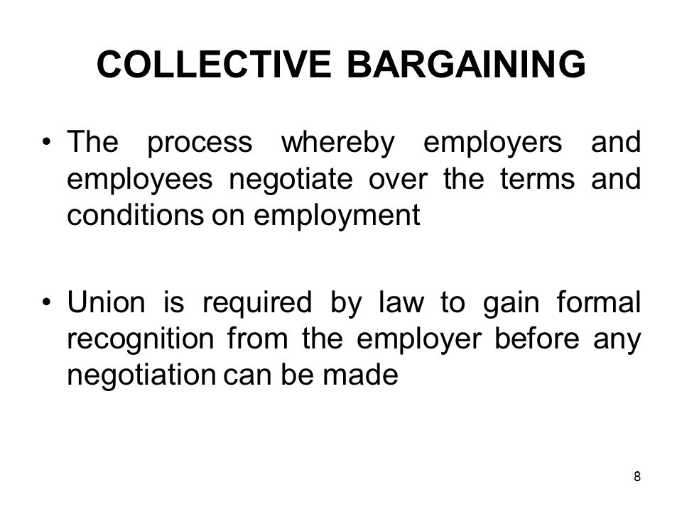 process of collective bargaining pdf