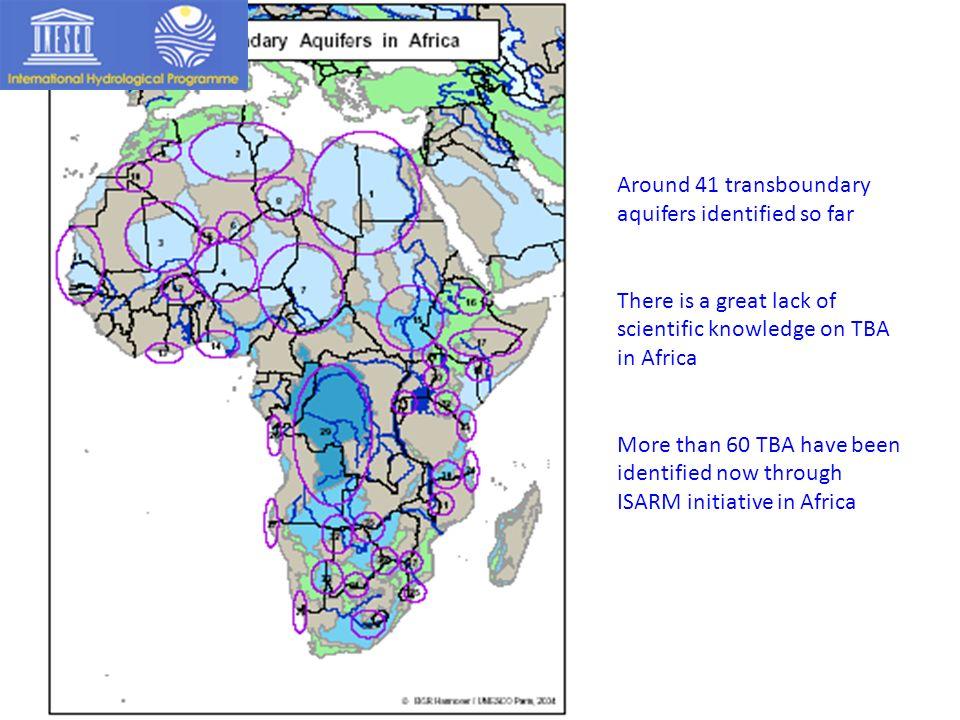 Around 41 transboundary aquifers identified so far