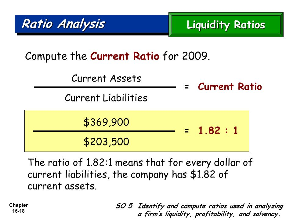 an analysis of current ratio using current asset and data is the current ratio The current ratio measures whether a company has the ability to use its current assets to pay trend analysis summary: the ratio trend analysis compares a.