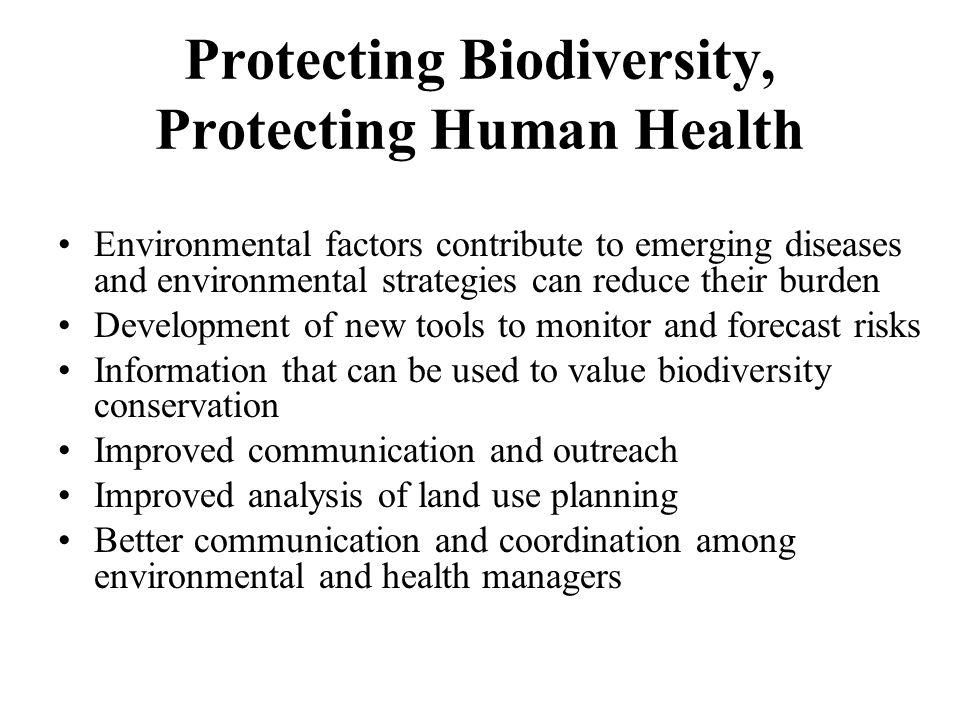 Protecting Biodiversity, Protecting Human Health