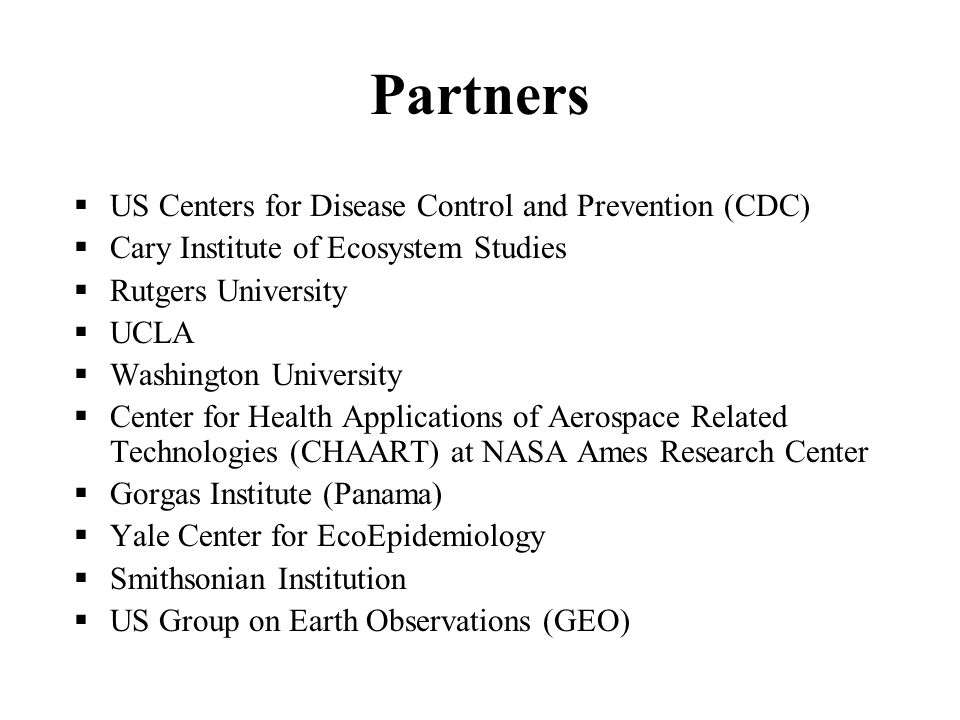 Partners US Centers for Disease Control and Prevention (CDC)
