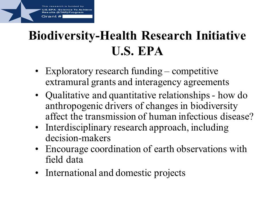 Biodiversity-Health Research Initiative U.S. EPA