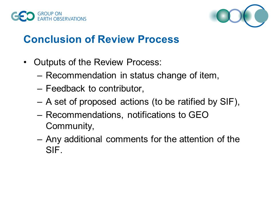 Conclusion of Review Process