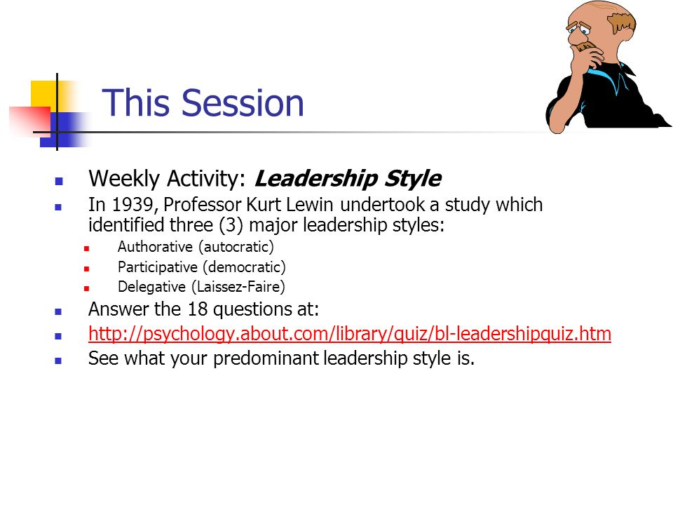 kurt lewin leadership styles questionnaire Start studying kurt lewin's leadership styles learn vocabulary, terms, and more with flashcards, games, and other study tools.
