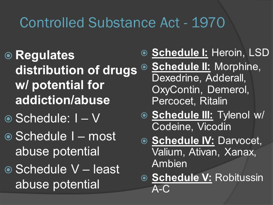 valium schedule ii controlled drugs