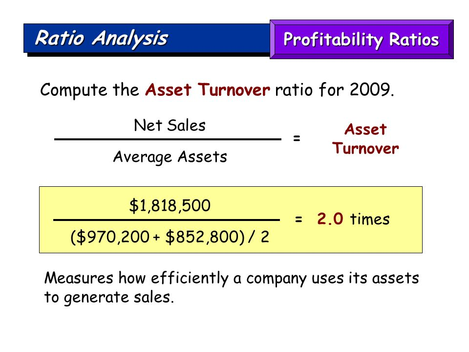 how to find asset turnover ratio
