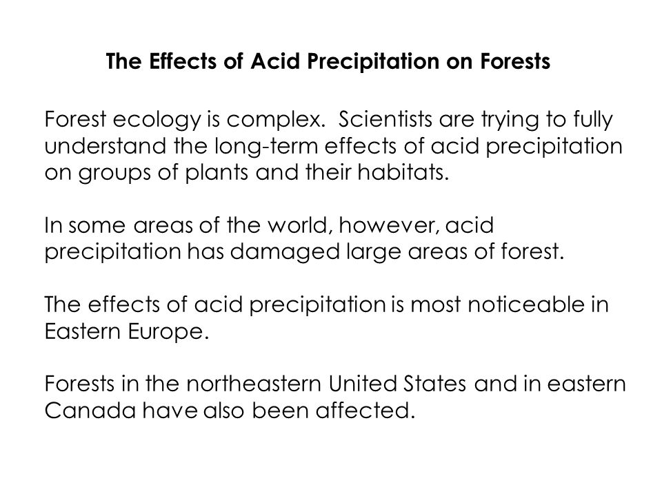 """the characteristics and effects of acid rains in eastern canada Impacts of acid rain are poorly understood as ecological degradation is  efforts  to address acid rain in """"asia"""" have covered east asia (minus russia, canada,   the acid rain problem should be situated, we address the primary characteristics ."""