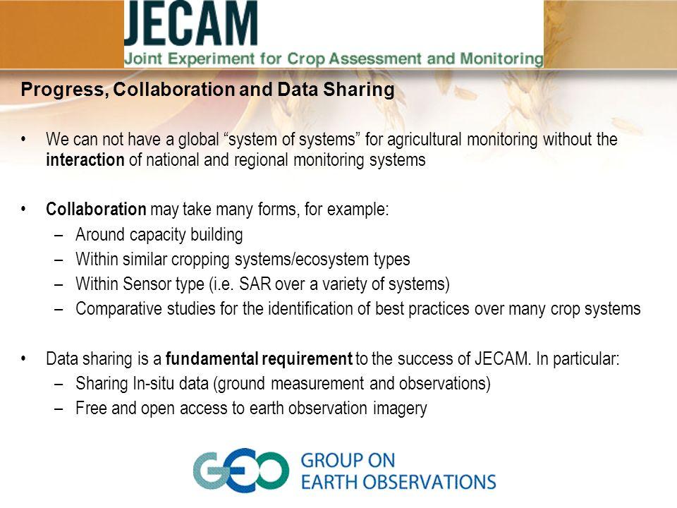 Progress, Collaboration and Data Sharing