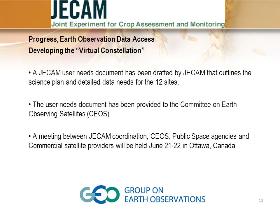 Progress, Earth Observation Data Access