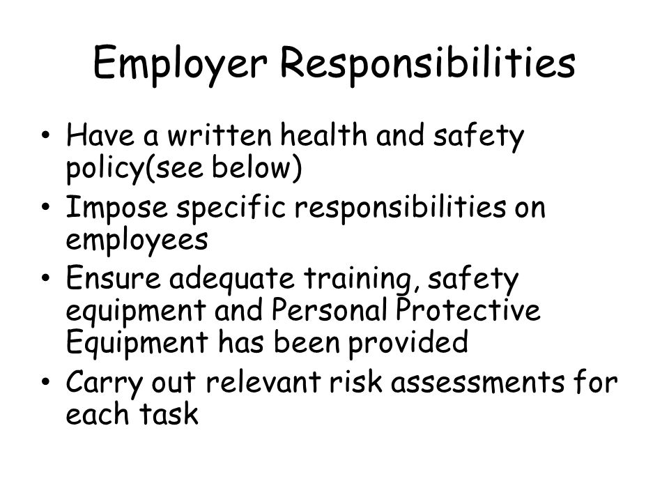 5 6 describe employers responsibilities regarding the use of ppe