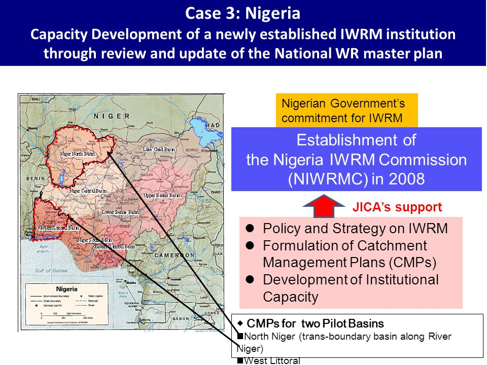 the Nigeria IWRM Commission (NIWRMC) in 2008
