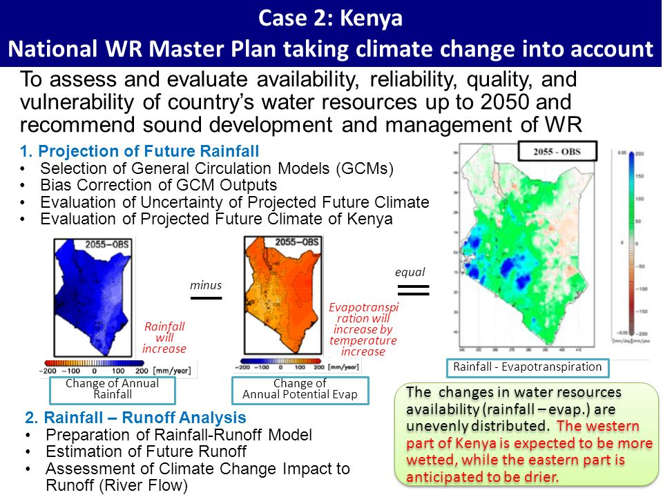National WR Master Plan taking climate change into account