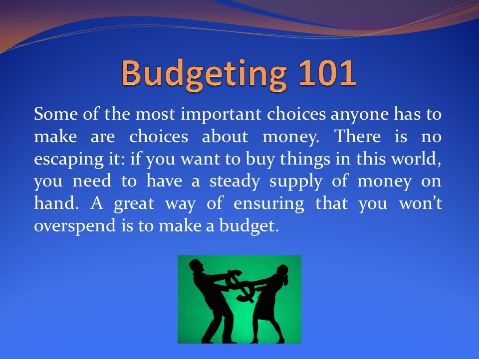 budget 101 how to get it done