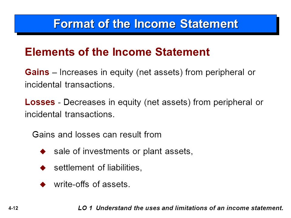 The Single Step Income Statement Emphasizes