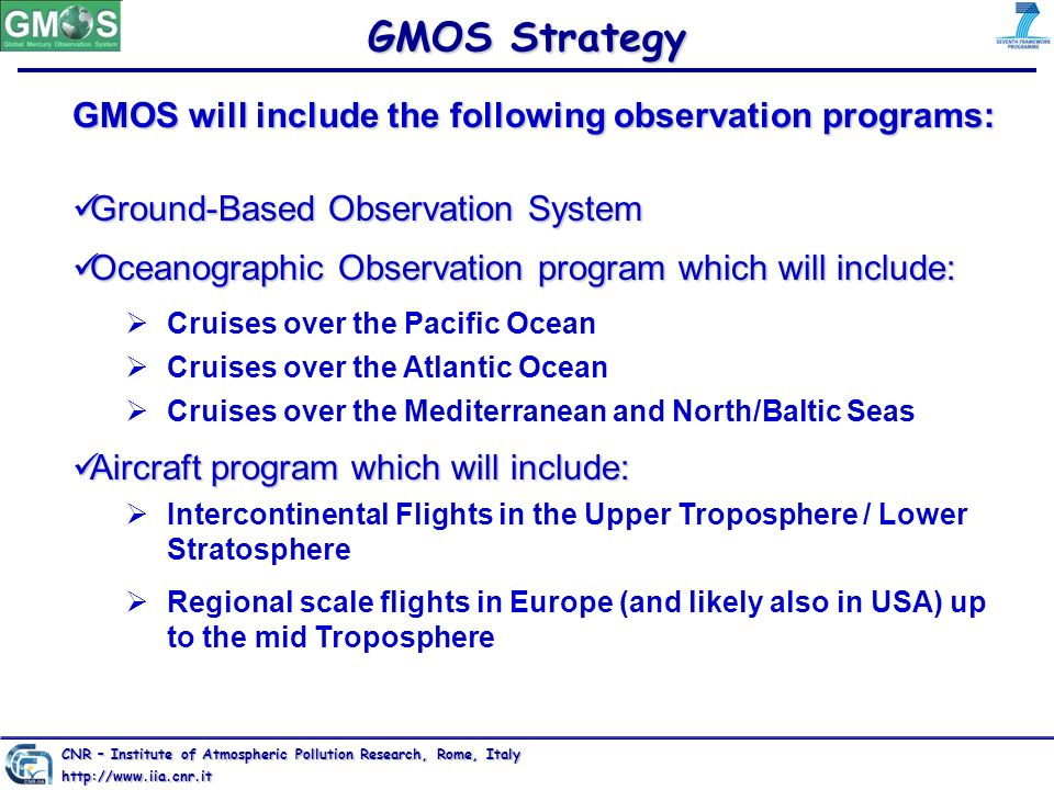 GMOS Strategy GMOS will include the following observation programs: