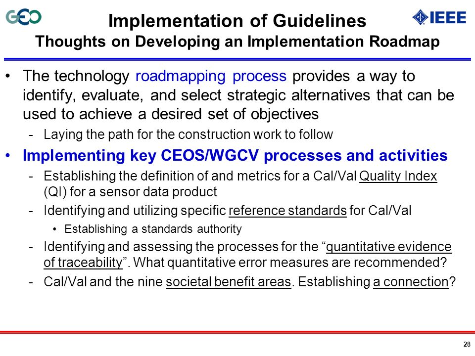 Implementation of Guidelines Thoughts on Developing an Implementation Roadmap