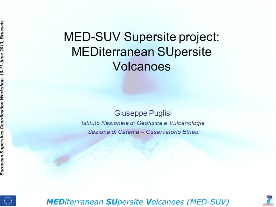 MED-SUV Supersite project: MEDiterranean SUpersite Volcanoes