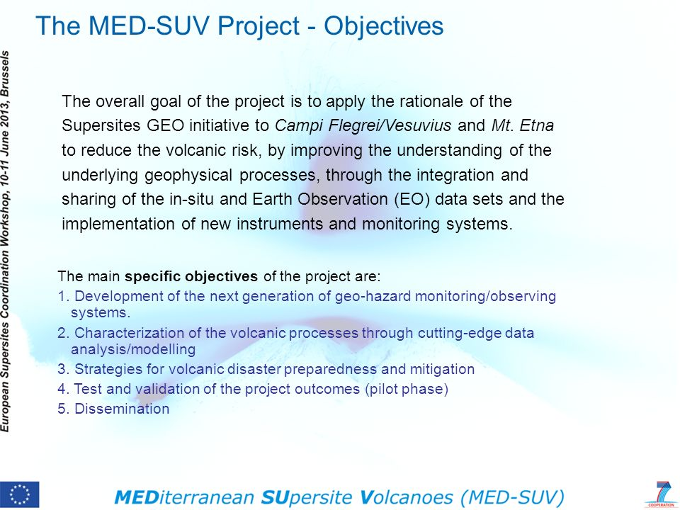The MED-SUV Project - Objectives