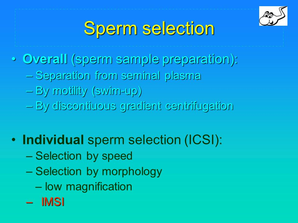 Can discussed sperm select method