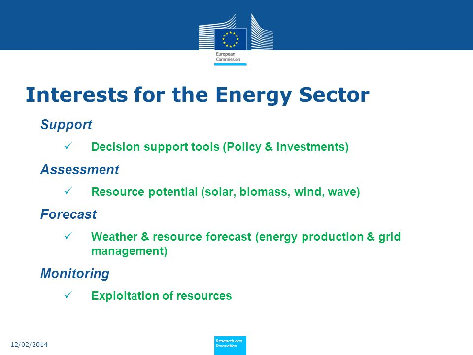 Interests for the Energy Sector
