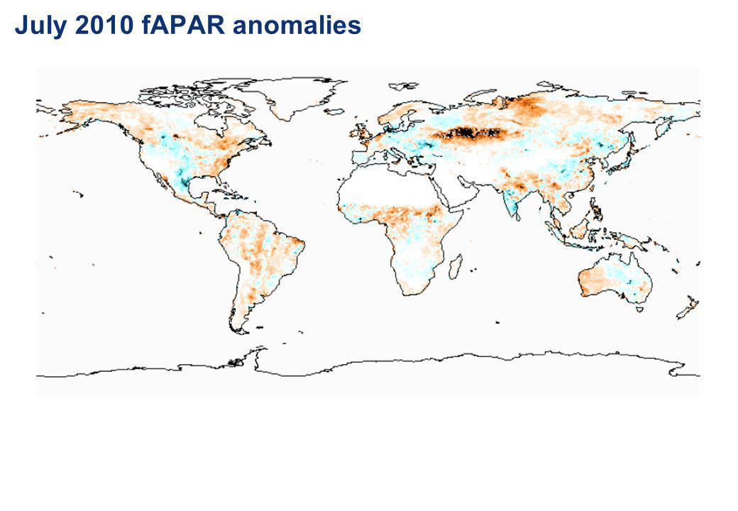 July 2010 fAPAR anomalies