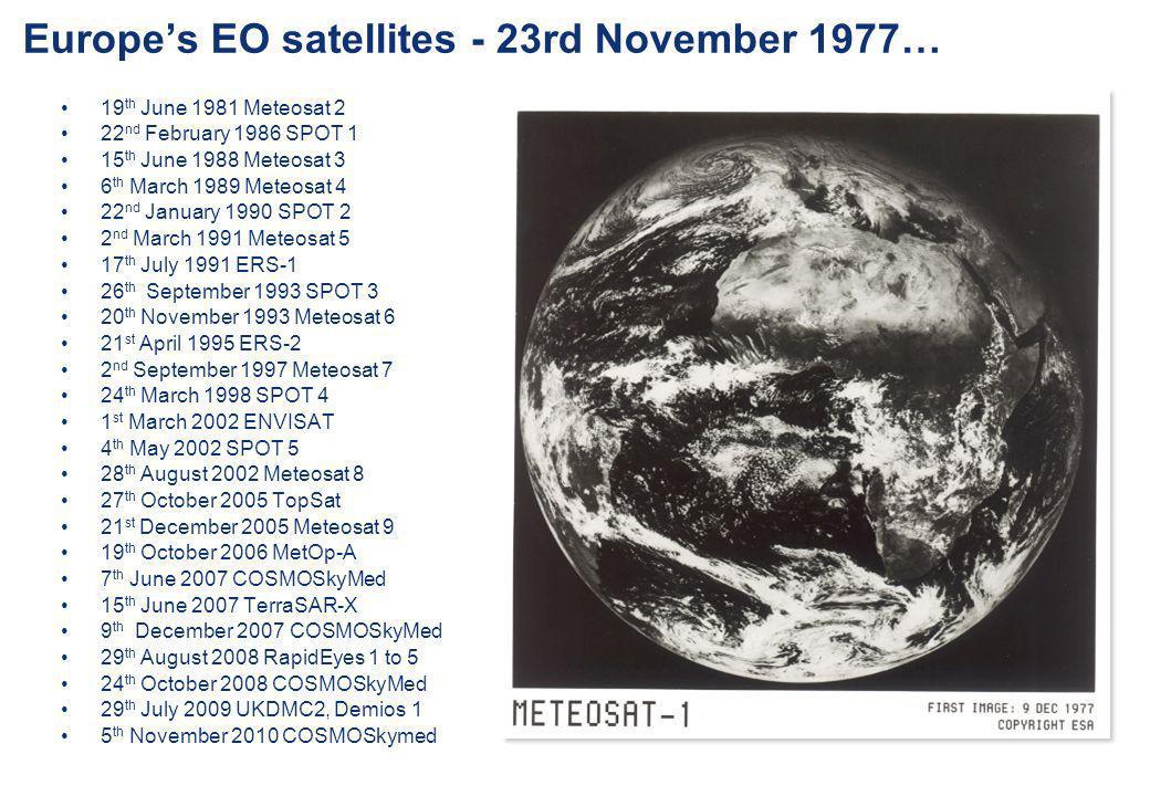 Europe's EO satellites - 23rd November 1977…