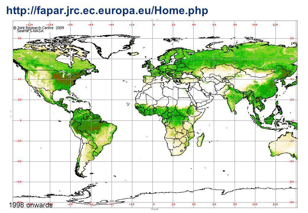 http://fapar.jrc.ec.europa.eu/Home.php 1998 onwards