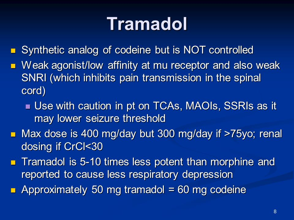 tramadol use with codeine allergy
