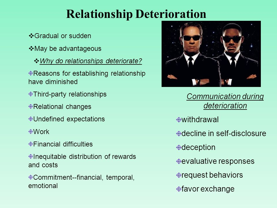 interpersonal relationships development and deterioration essay This sample essay on the effects of social media on interpersonal  but rather  actually the deterioration of interpersonal relationships.