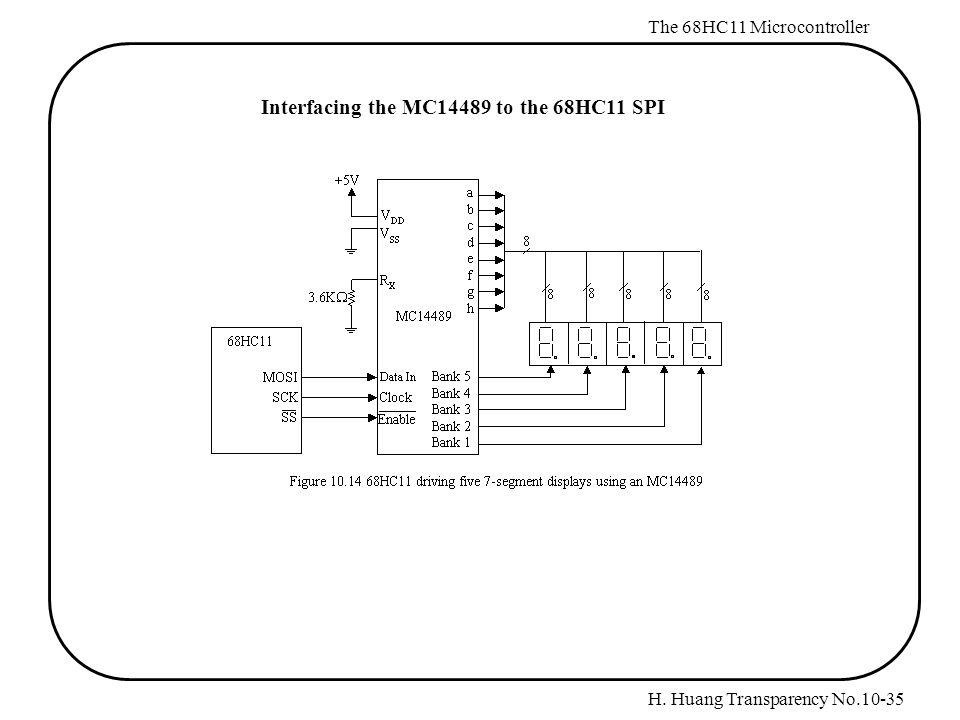 chapter 10  68hc11 serial peripheral interface