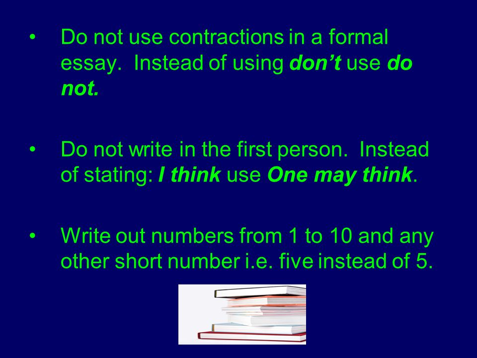 formal essay writing numbers This week my 11-year-old daughter had an assignment on writing numbers one of the rules on her assignment sheet stated, numbers that are expressed in fewer than four words are spelled out that rule sounded like trouble to me after all, do we really want to write seventeen thousand sixty i would.
