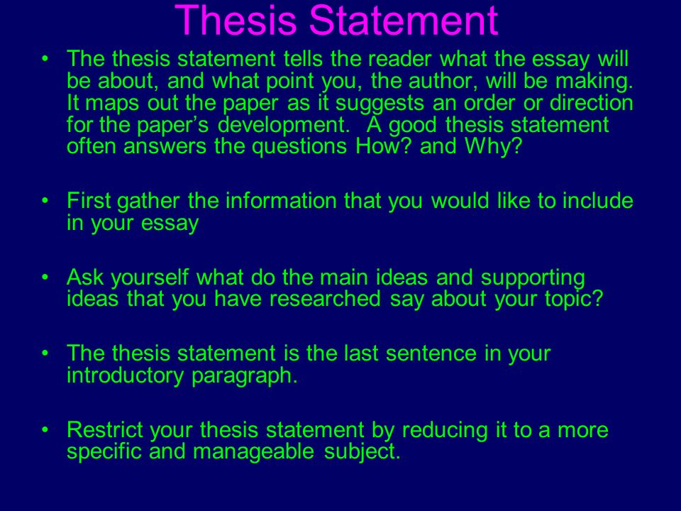 good history thesis statements