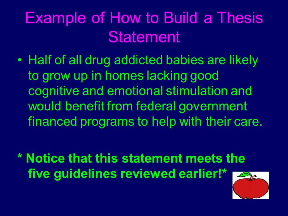 how to build a thesis statement Page 2 of 4 bad & better thesis statements (con't) 3 the uncontestable thesis a thesis must be arguable and in order for it to be arguable, it must present a view that.
