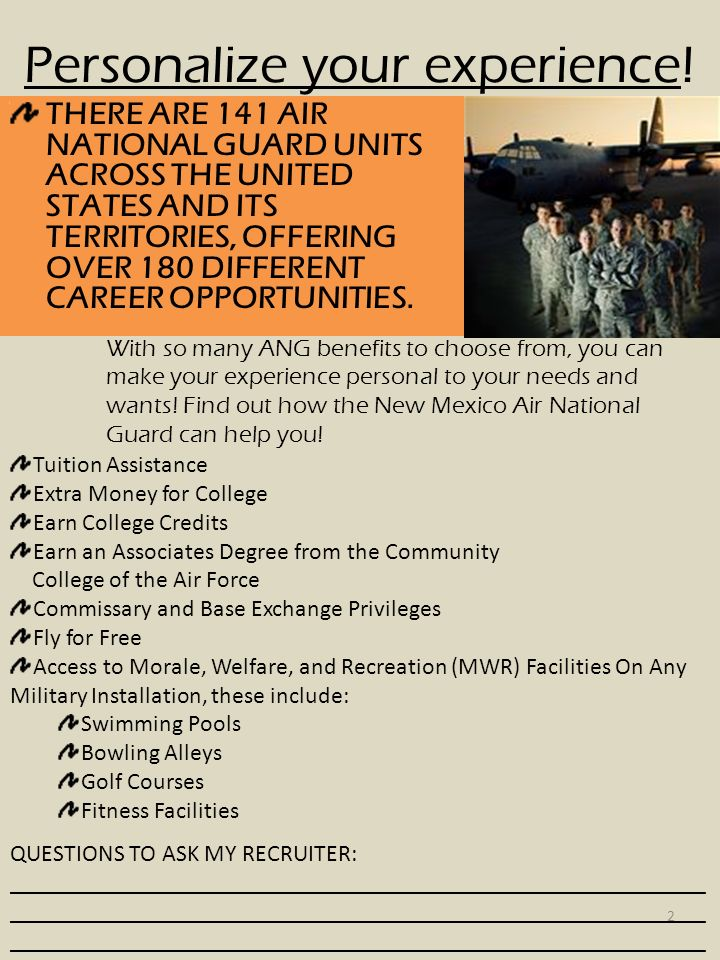 air national guard brochure  know your benefits