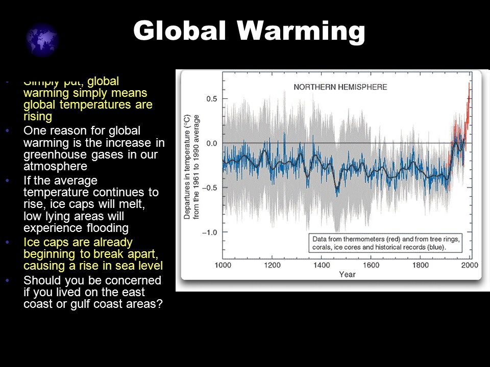 global temperatures rising Global temperatures have been rising and sea ice has been melting at unprecedented rates since the start of 2016 scientists at nasa's goddard institute for space studies in new york said that each month in the first half of this year set a record as the warmest month globally since temperature.