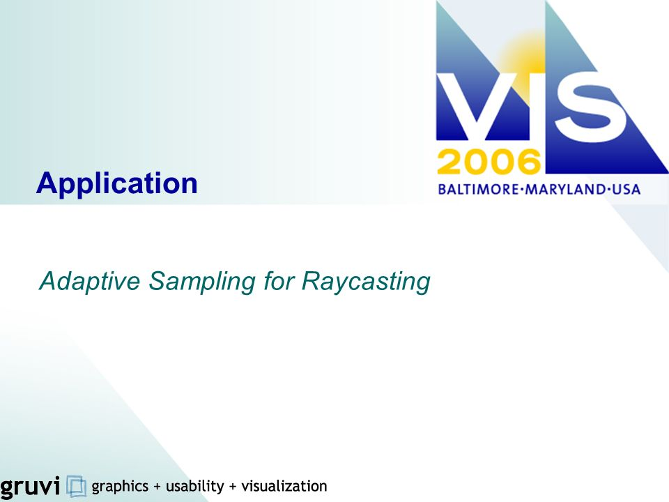 Adaptive Sampling for Raycasting