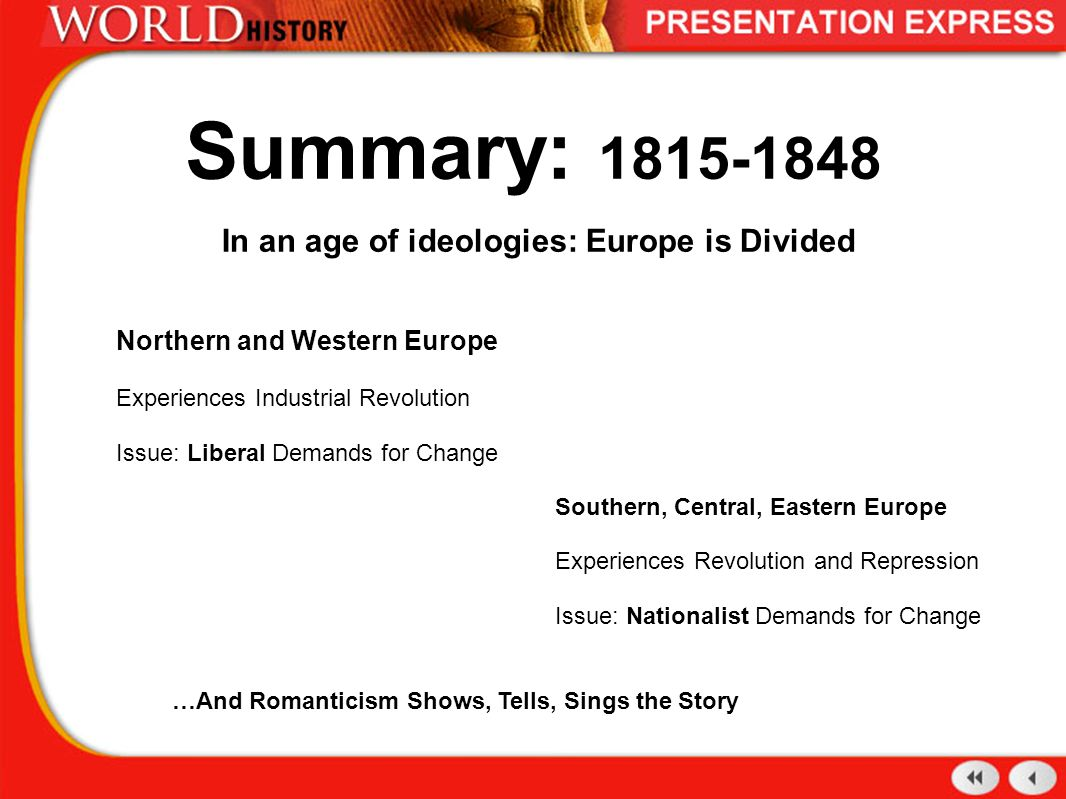 nationalism europe 1815 1848 It looks at a number of pivotal points in the history of nationalism: notably the french revolution itself and its aftermath, the congress of vienna in 1815, the european revolutions of 1848-49, the unifications of germany and italy in the latter-part of the 19 th century, and the apparent rising tide of nationalism in the ottoman balkans.