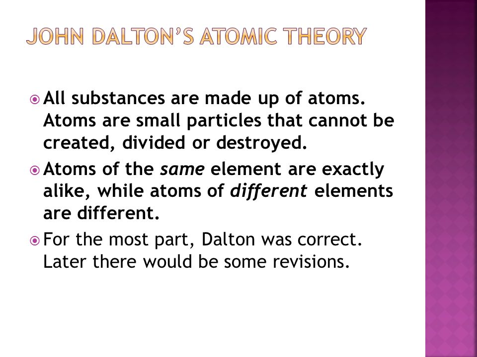Atomic structure and the periodic table of elements ppt video 3 john daltons atomic theory urtaz Choice Image