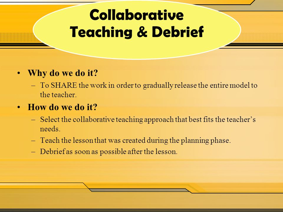 Collaborative Teaching Models : Coaching cycle continuum ppt video online download