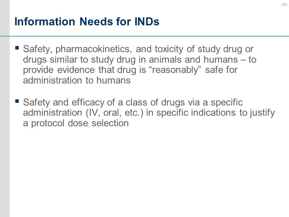 Information Needs for INDs