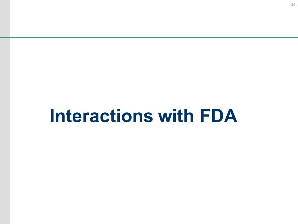 Interactions with FDA
