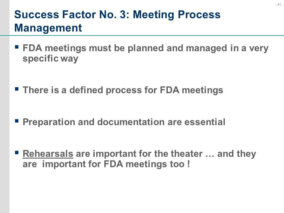 Success Factor No. 3: Meeting Process Management