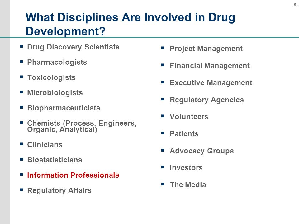 What Disciplines Are Involved in Drug Development