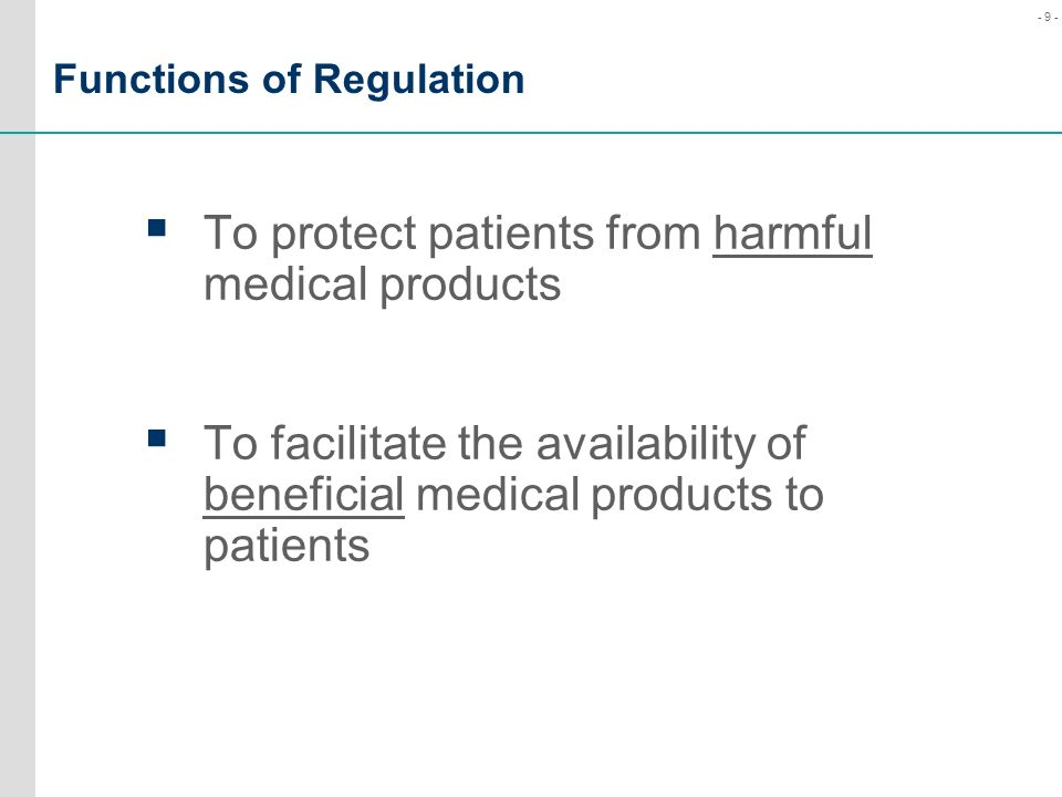 Functions of Regulation
