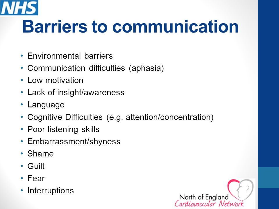 environmental barriers if listening Overcoming barriers to active listening if you want to gain respect and have people trust you, being an active listener is a good start active listening is a combination of body language and utterances to confirm with the speaker that you are interested in what they have to say and summarising what they have said either as a statement or.