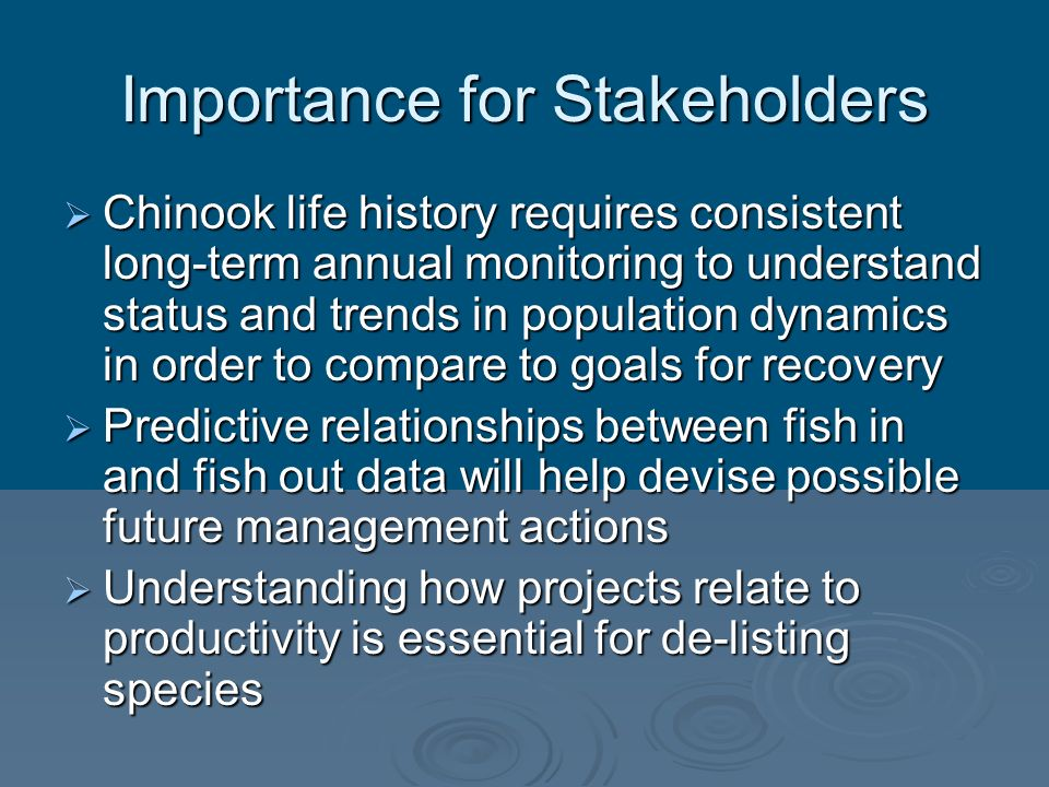 Importance for Stakeholders